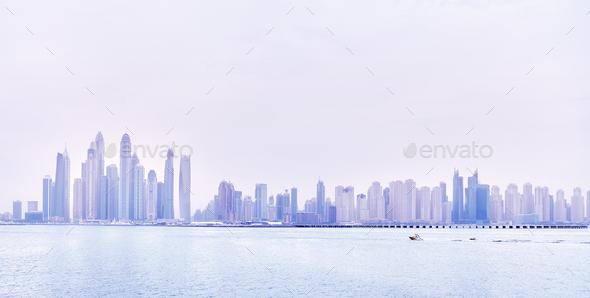 Dubai waterfront skyline, United Arab Emirates. - Stock Photo - Images