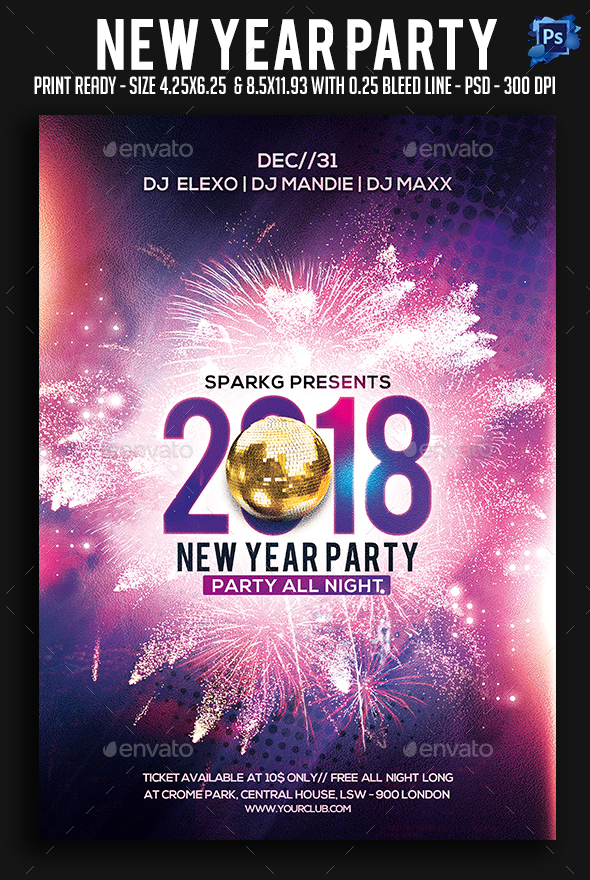 2017 New Year Party Flyer - Clubs & Parties Events