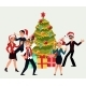 People Having Corporate Xmas Party - GraphicRiver Item for Sale