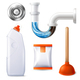 Drain Cleaner Icon Set