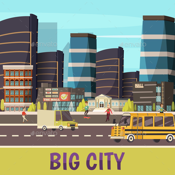 Big City Orthogonal Background