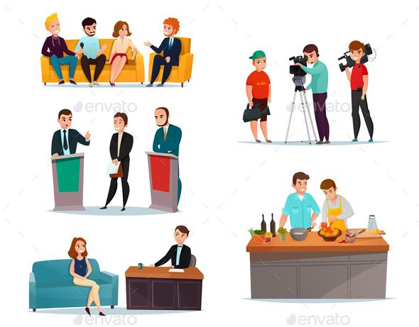 GraphicRiver Talk Show Participants Set 20793220