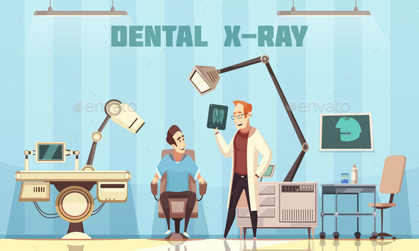GraphicRiver Dentist Holding Roentgen Picture and Patient 20793227