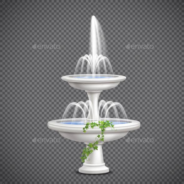 GraphicRiver Cascade Water Fountain Realistic Transparent 20793247