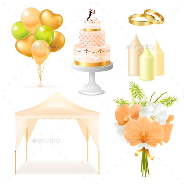 GraphicRiver Realistic Wedding Elements Set 20793251