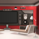 Home Cinema Interior With Red Walls