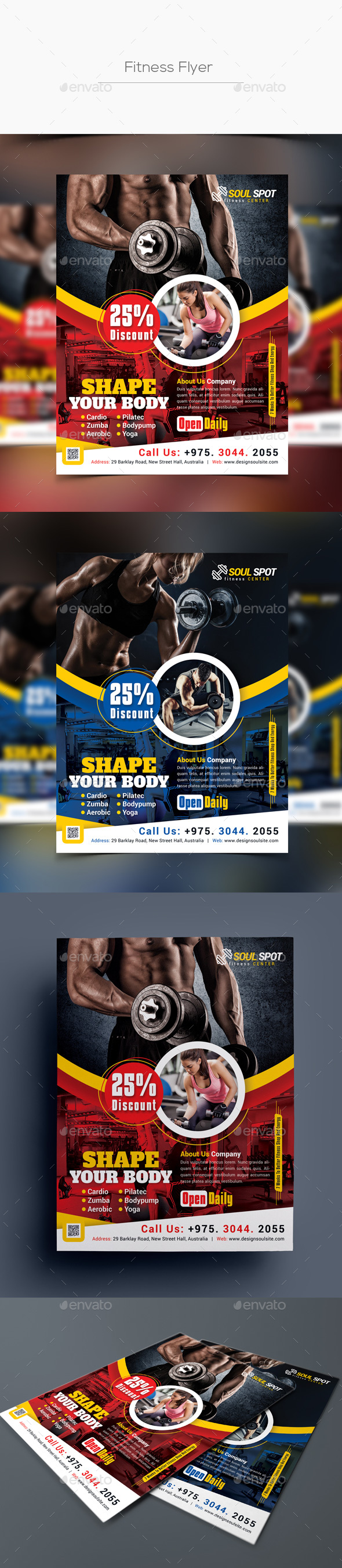 GraphicRiver Fitness Flyer 20793325