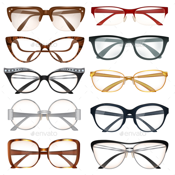 GraphicRiver Modern Eyeglasses Set 20793969