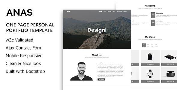 ANAS - Personal Portfolio HTML5 Template - Personal Site Templates