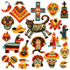 Mexican Holiday Day Of Dead Set - GraphicRiver Item for Sale