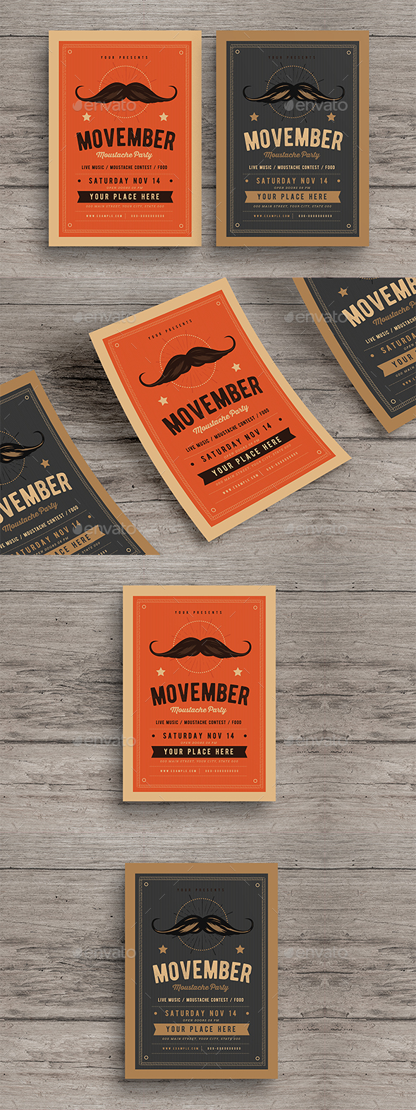 GraphicRiver Movember Event Flyer 20794160
