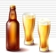 Beer Bottle and Weizen Glasses with Beer Vector