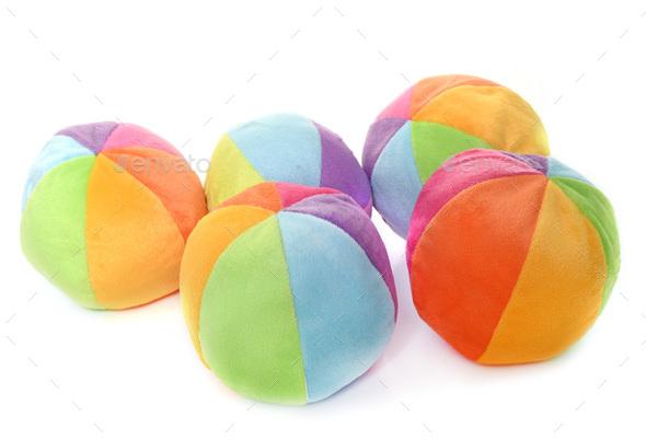 balls in studio - Stock Photo - Images