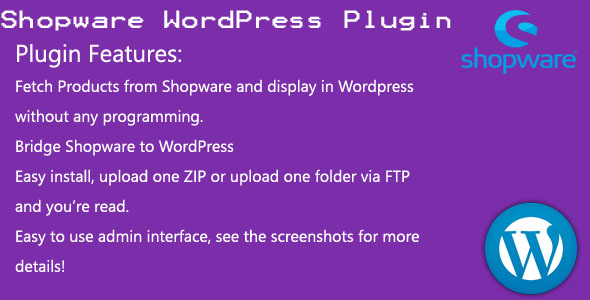Shopware WordPress plugin - CodeCanyon Item for Sale