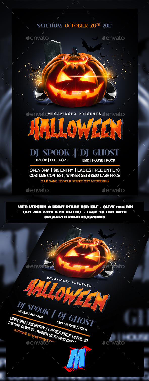 GraphicRiver Halloween Bash Flyer Template 20794274