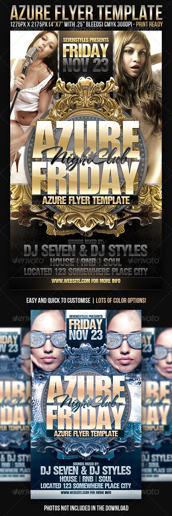 Azure Flyer Template - Clubs & Parties Events