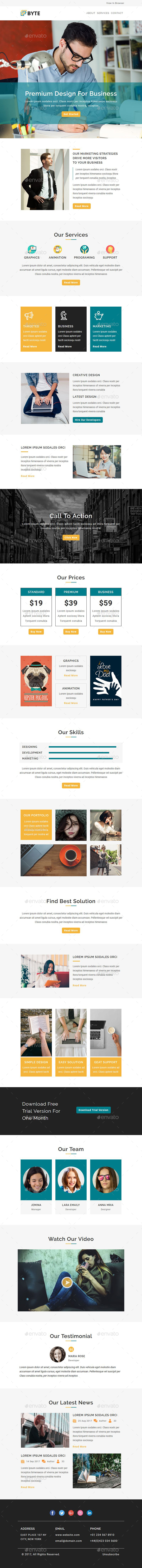 GraphicRiver Byte Email Newsletter PSD Template 20794317