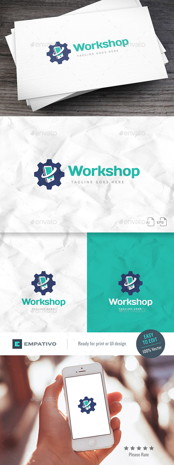 Mobile Workshop Logo Template - Symbols Logo Templates