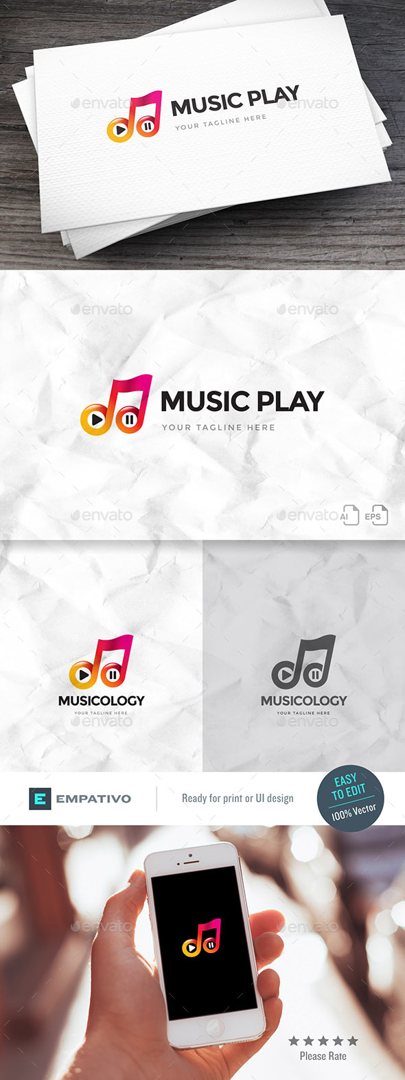Musicology Logo Template - Symbols Logo Templates