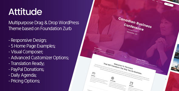 ThemeForest Attitude Multi-Purpose WordPress Theme 20702430