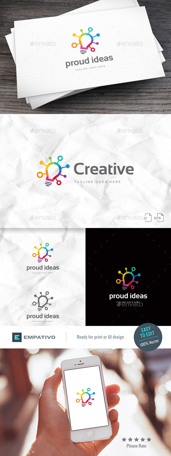 Proud Ideas Logo Template