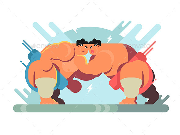 GraphicRiver Fight of Sumo Athletes 20795187
