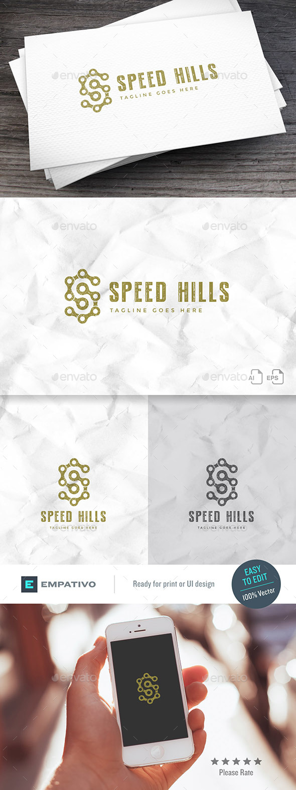 Speed Hills Logo Template