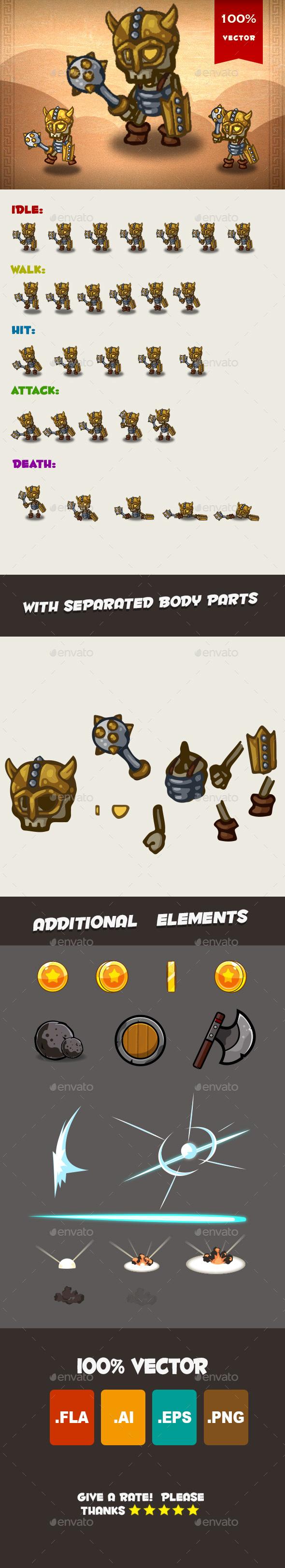 Skeleton Spritesheet 03 - Sprites Game Assets