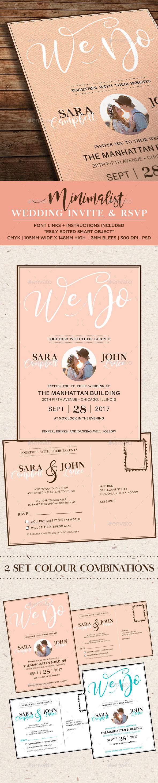 Minimalist Wedding Invitation - Weddings Cards & Invites