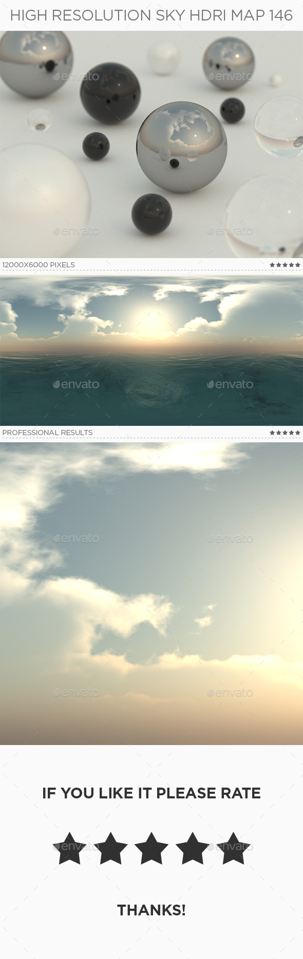 3DOcean High Resolution Sky HDRi Map 146 20795605