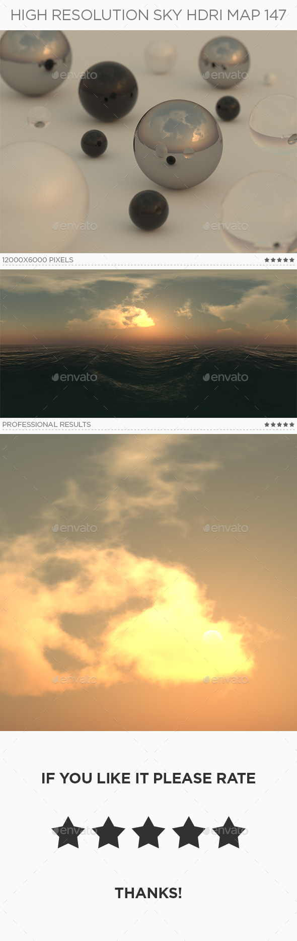 High Resolution Sky HDRi Map 147 - 3DOcean Item for Sale