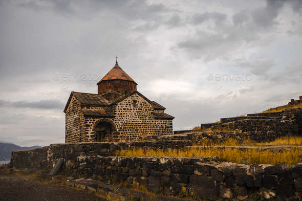 Monastery of Sevanavank and surroundings in Armenia - Stock Photo - Images