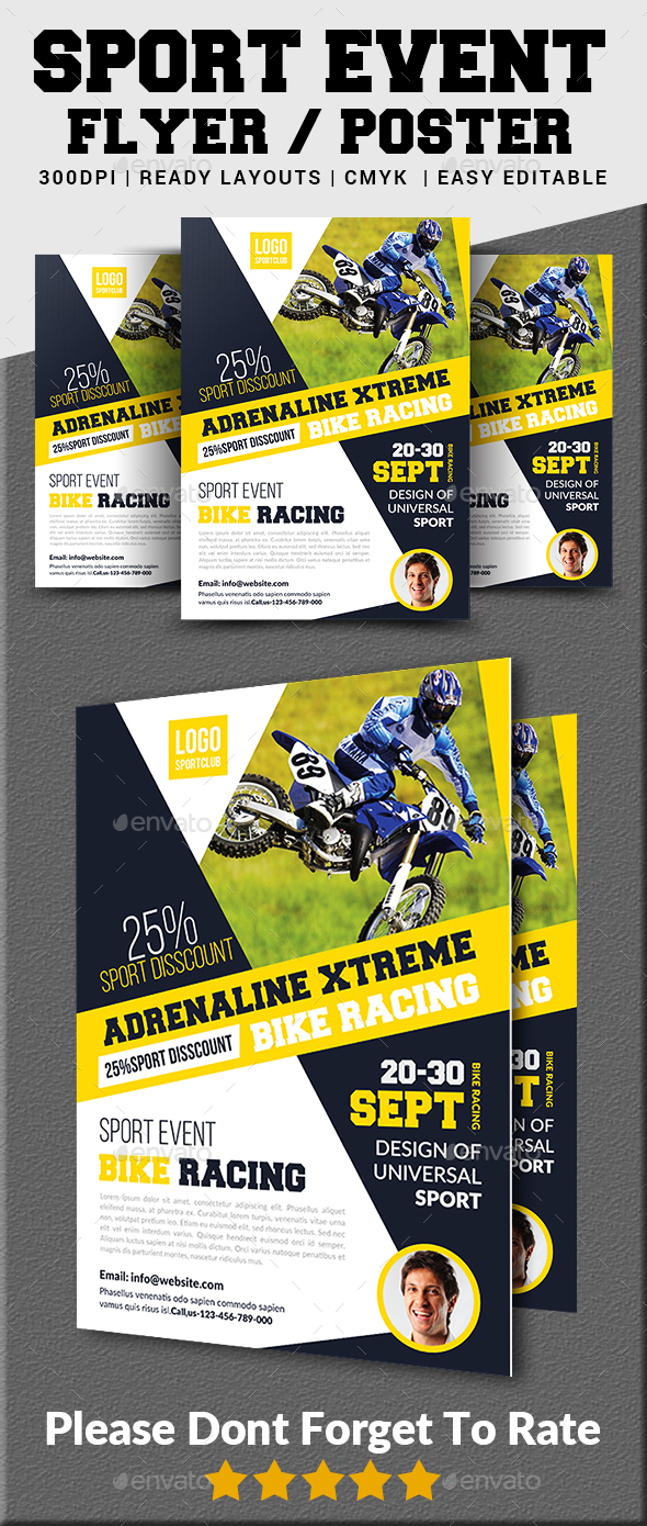 Bike Racing Flyer - Sports Events