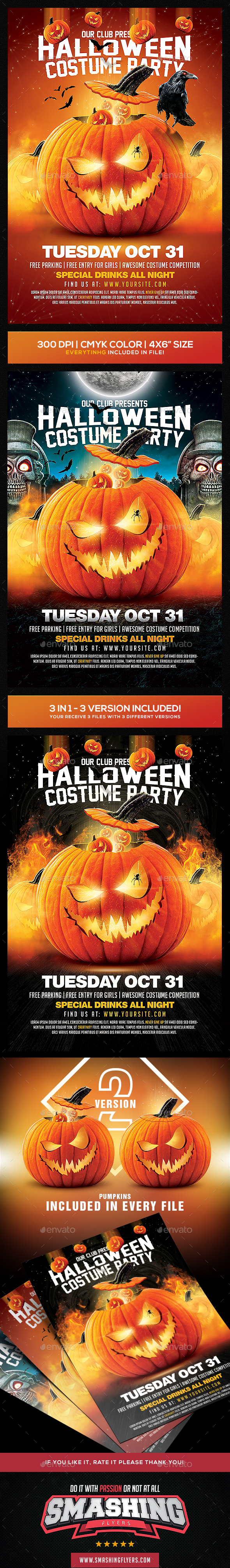 3in1 Halloween Flyer