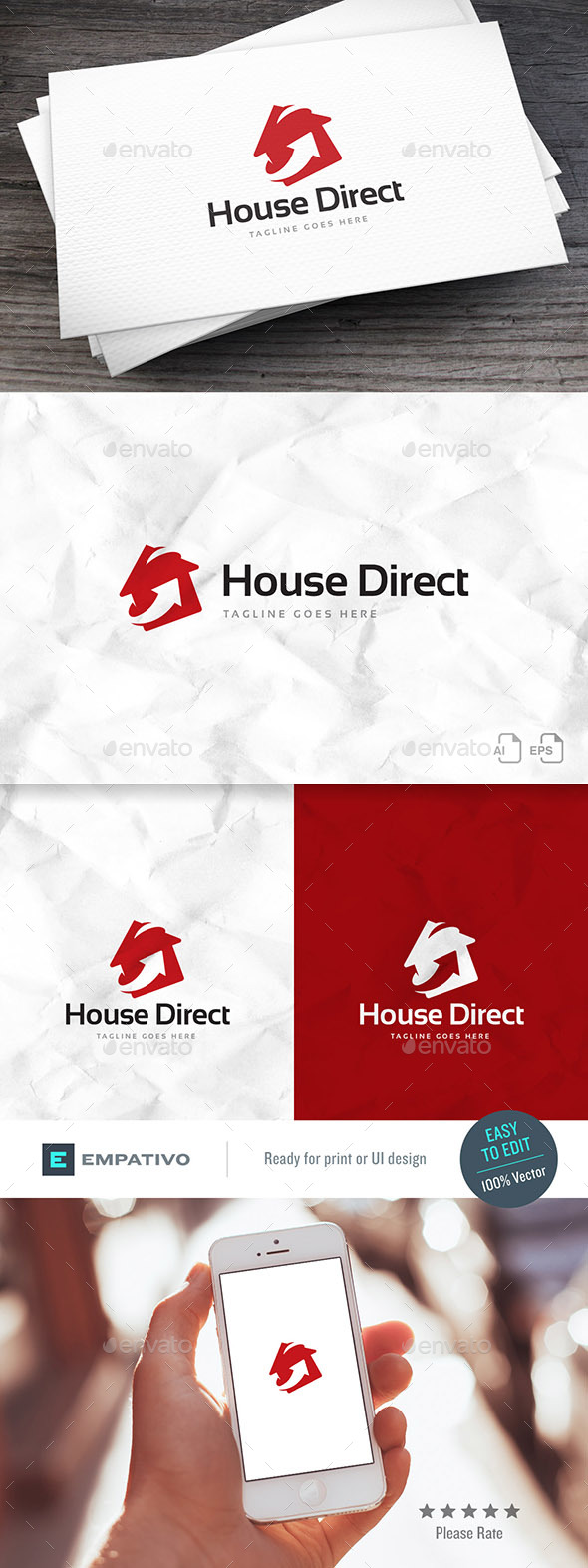 House Direct Logo Template - Buildings Logo Templates