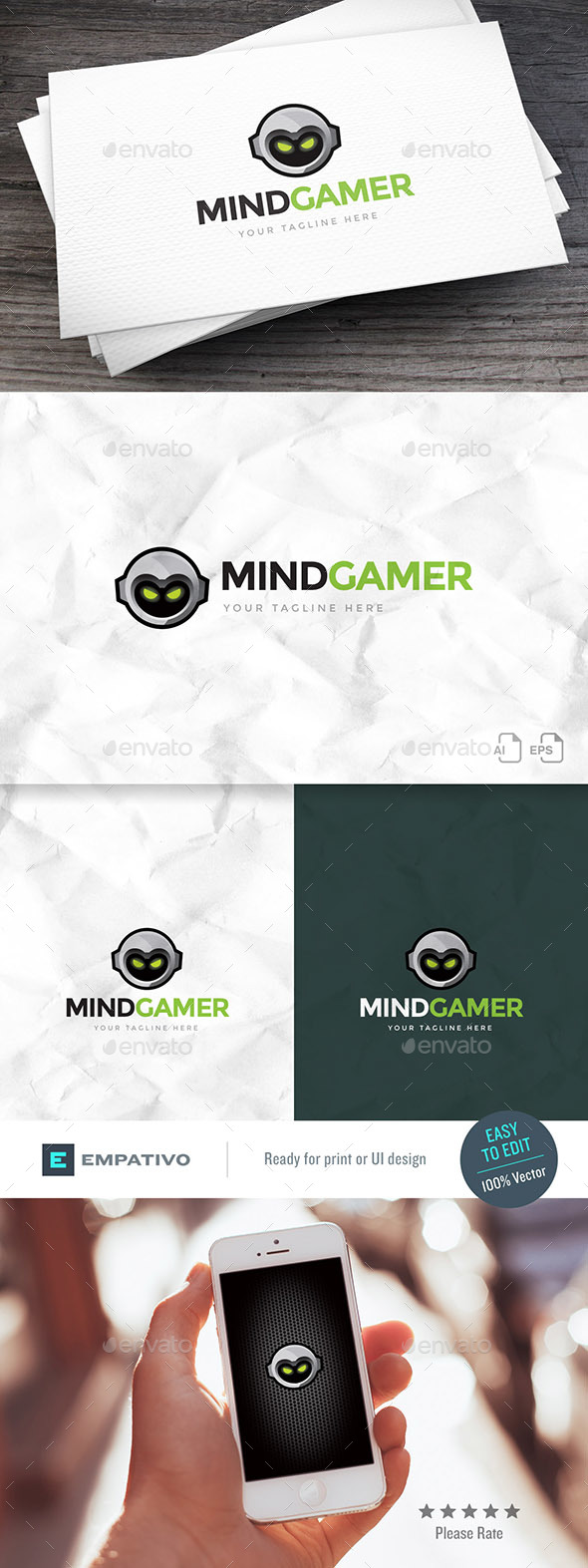 Mind Gamer Logo Template
