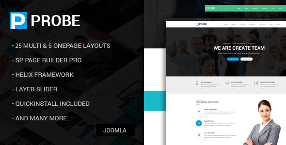 Preview.  large preview - Probe - Responsive Multi-Purpose Joomla Theme With Page Builder
