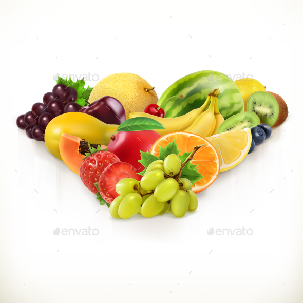 Grapes And Juicy Fruits - Vectors