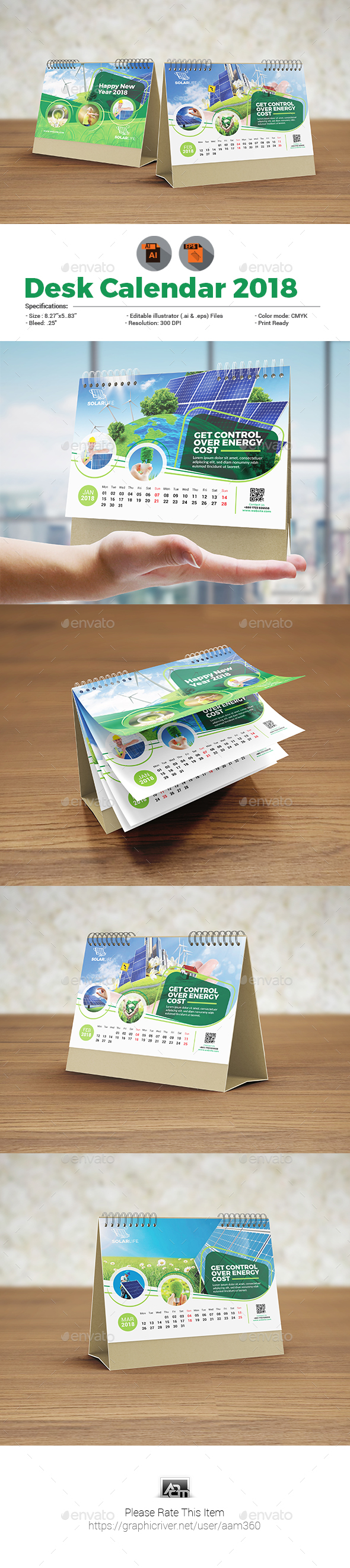 Desk Calendar Template - Calendars Stationery
