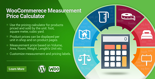 Woocommerce Measurement Cost Calculator Plugin (WooCommerce)