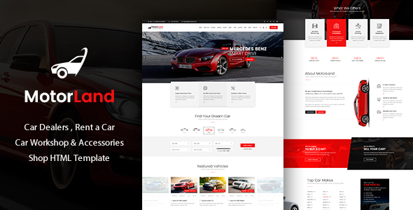 MOTORLAND - Car Dealer Template