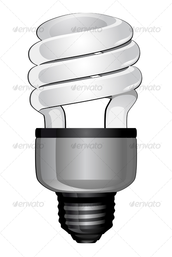 Light bulb - Objects Vectors