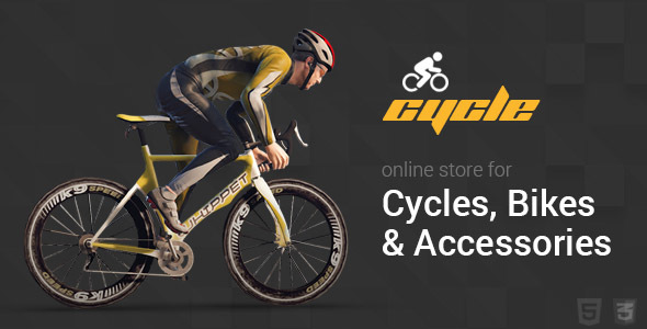 Cycle - Bicycle & Accessories Ecommerce Store Template - Shopping Retail
