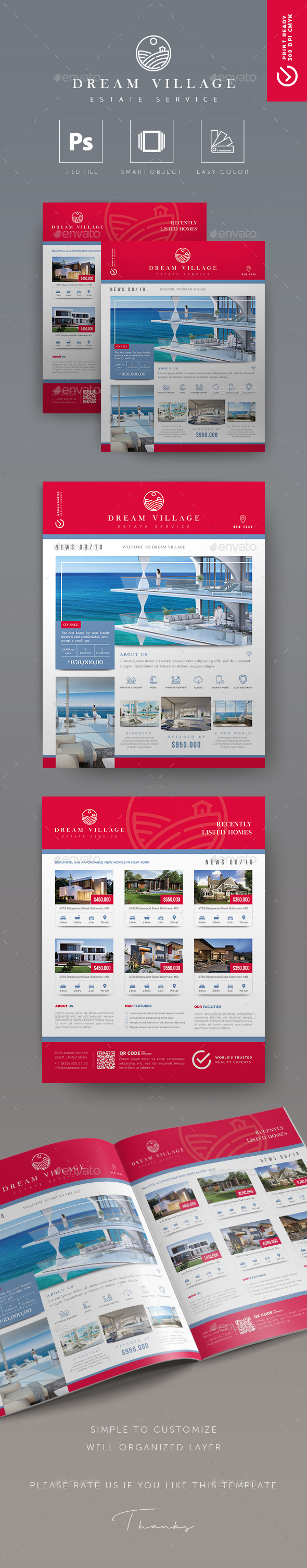 Dream Village - Creative Real Estate Flyer - Commerce Flyers