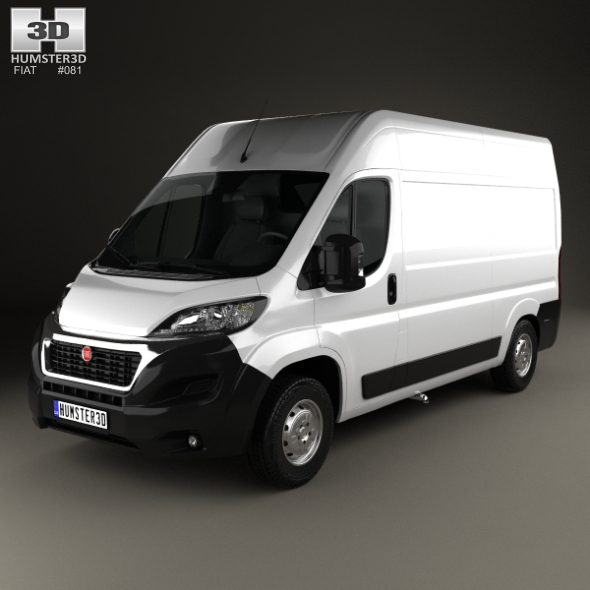 fiat ducato panel van l2h2 2014 by humster3d 3docean. Black Bedroom Furniture Sets. Home Design Ideas