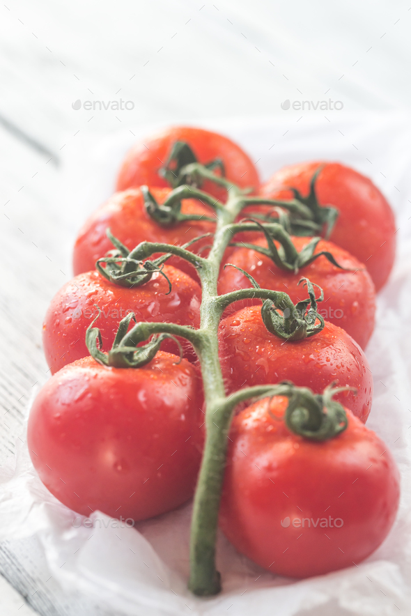 Bunch of fresh tomatoes - Stock Photo - Images