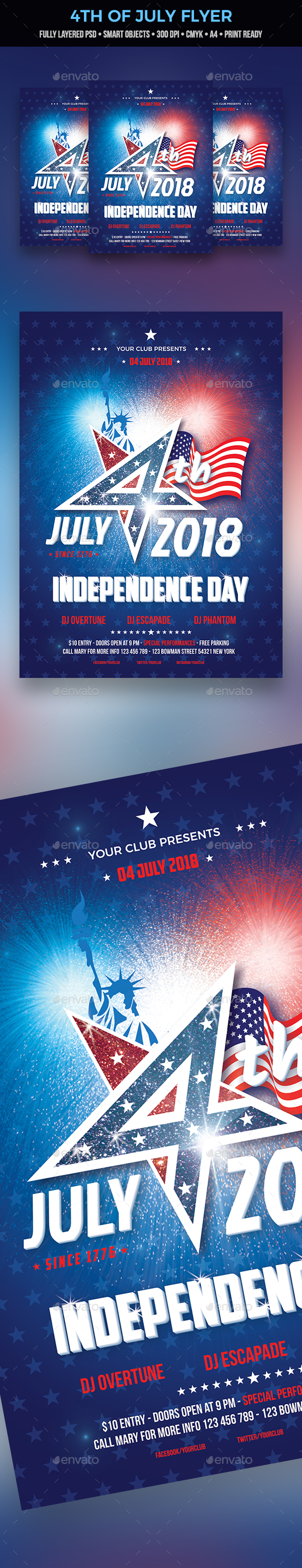 GraphicRiver 4th of July Flyer 20796706