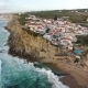 Aerial View of Ocean Near Azenhas Do Mar, Portugal Seaside Town.