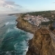 Aerial View of Ocean Near Azenhas Do Mar, Portugal Seaside Town.