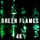 Abstract Halloween Green Flames